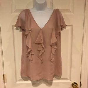 Banana Republic Soft Rose Chiffon Blouse